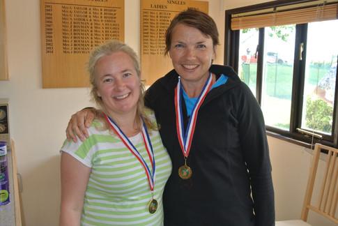 Ladies' Plate Doubles Winners