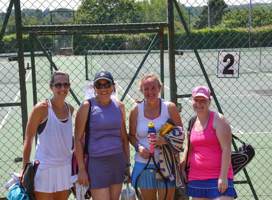 Ladies' doubles winners & runners up