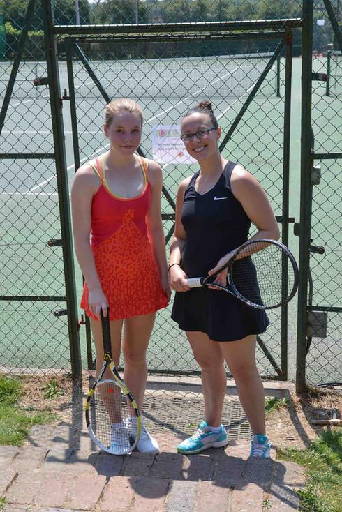 Ladies' Singles winner & runner up