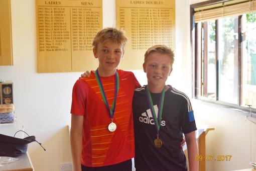 Boys' U14 winner and runner up