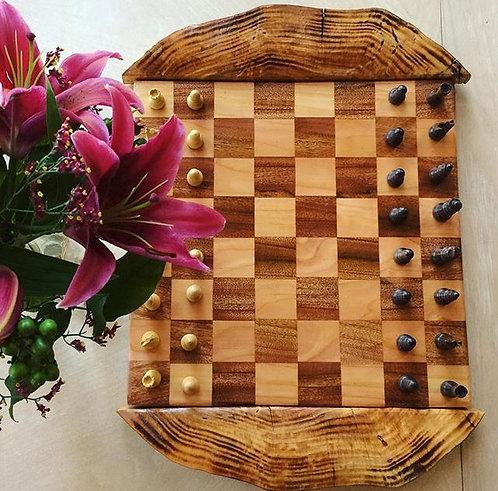 Cherry/Fir Chess Board