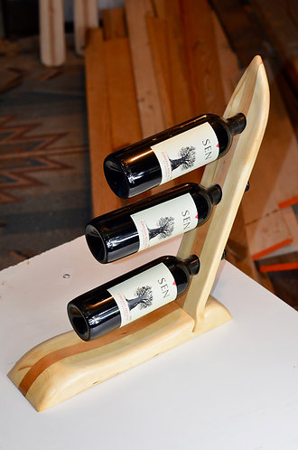 Cherry Ski Wine Bottle Rack