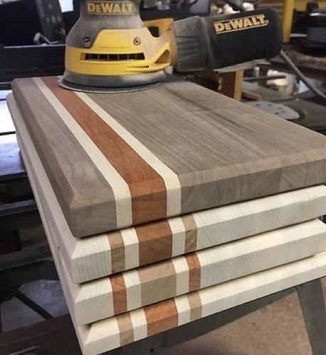 Straight Finished Three Tone Cutting Board