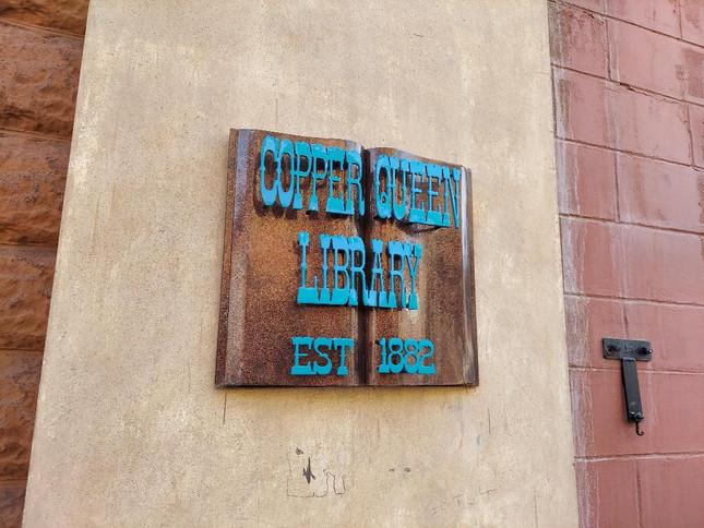 Copper Queen Library New Plaque