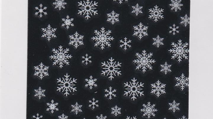 Snowflake Wite Nail Seal - S10005