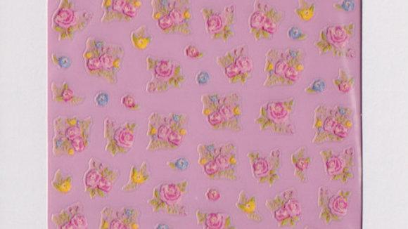 Rose Garden Nail Seal - S10002