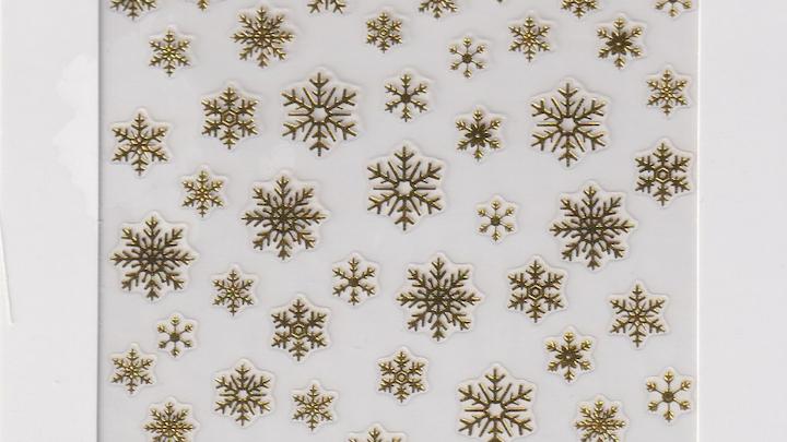 Snowflake Gold Nail Seal - S10006