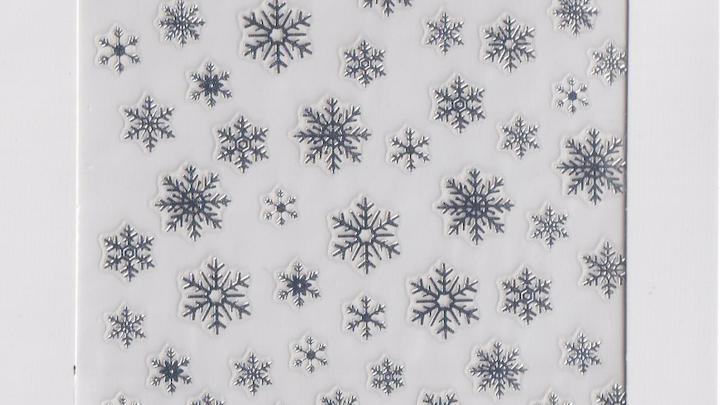 Snowflake Silver Nail Seal - S10006