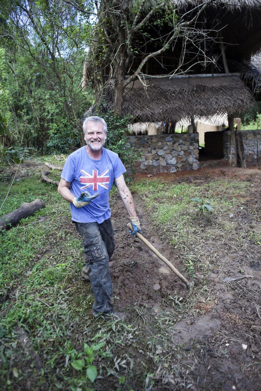 Peter Eastwood starts the garden