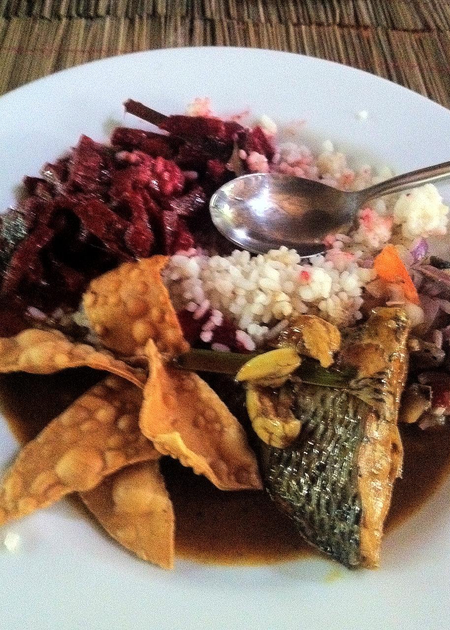 Fish curry - yum!