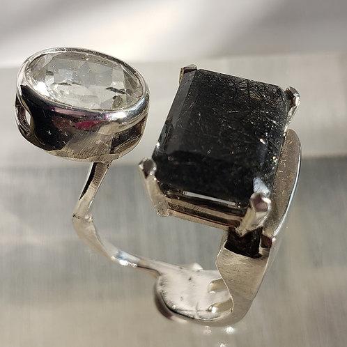 Black rutilated ring