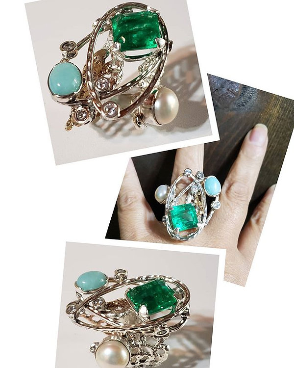 Just finished my emerald ring! My studio