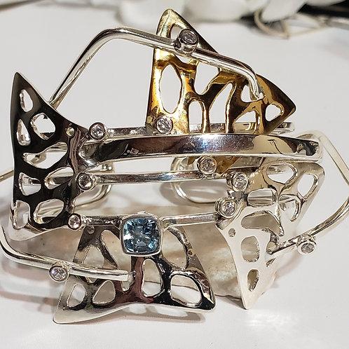 Mermaid fin cuff bracelet