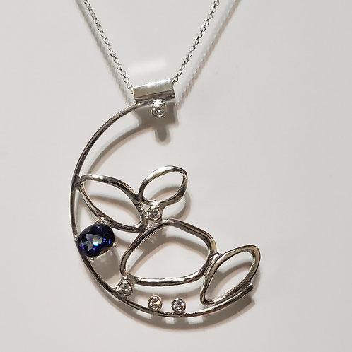 London blue link necklace
