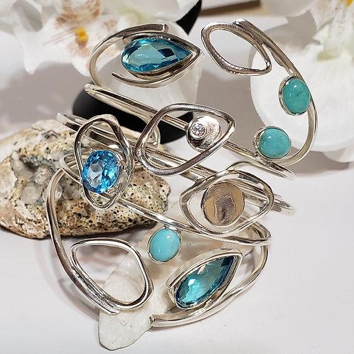 Aqua blue monster bracelet