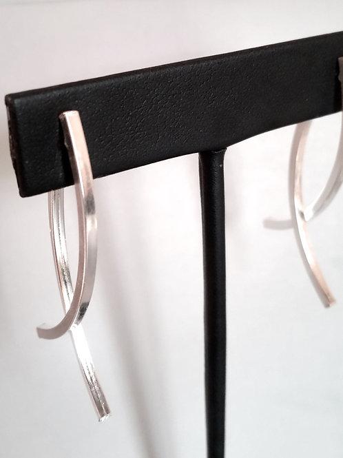 double lane earrings