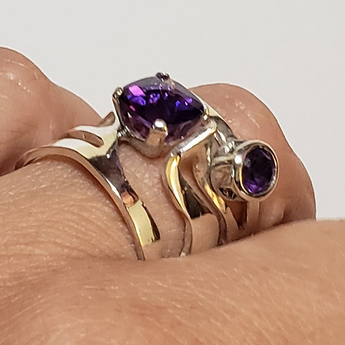 Open work in amethyst