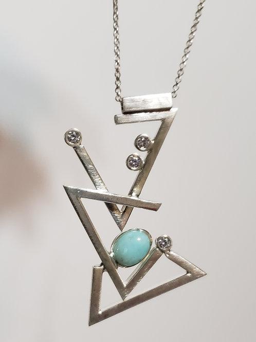 Larimar geo necklace