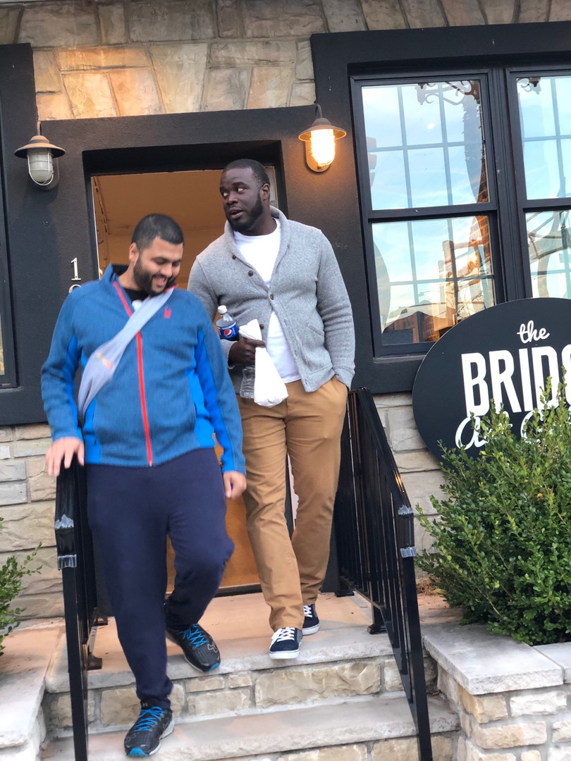 Two kings reuniting in Bayonne