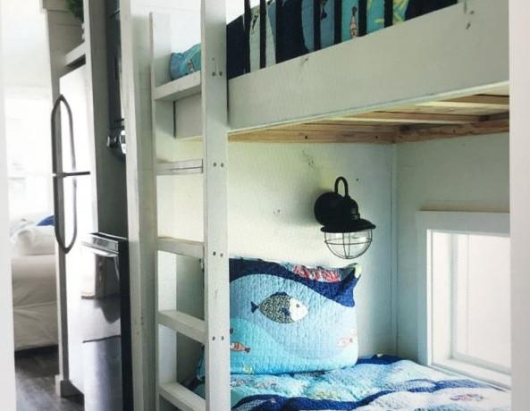 The Moss Buff Bunk Beds