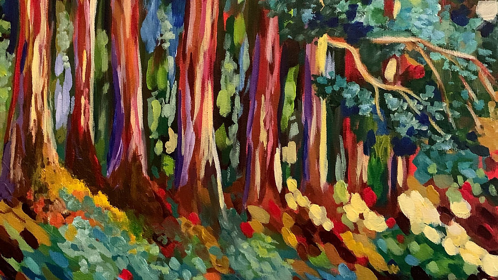 Acrylic Painting - Into the Woods