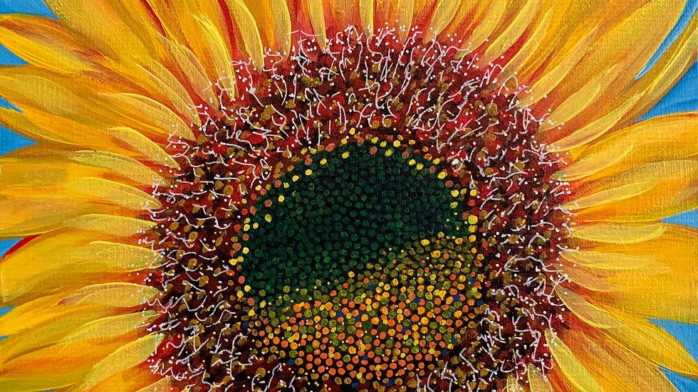 Acrylic Painting - Small Sunflower