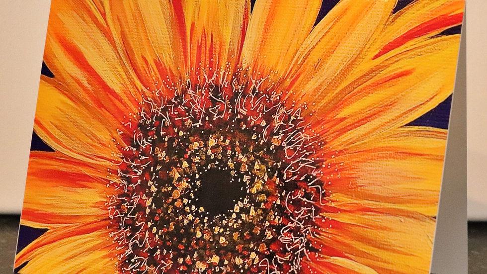 Blank Card - Print of Sunflower