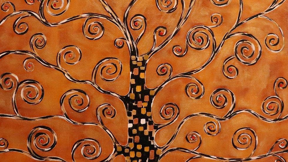 Acrylic Painting - Gilded Tree