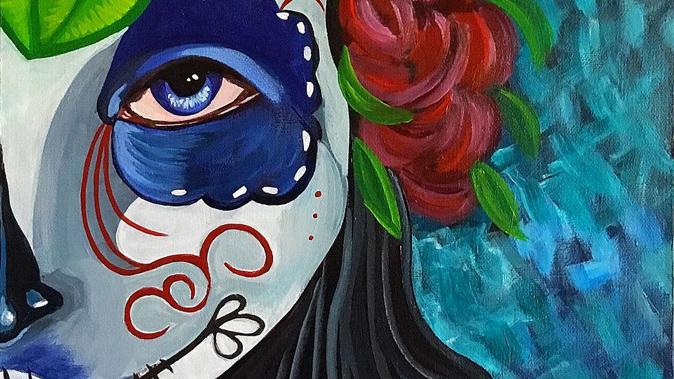 Acrylic Painting - Sugar Skull