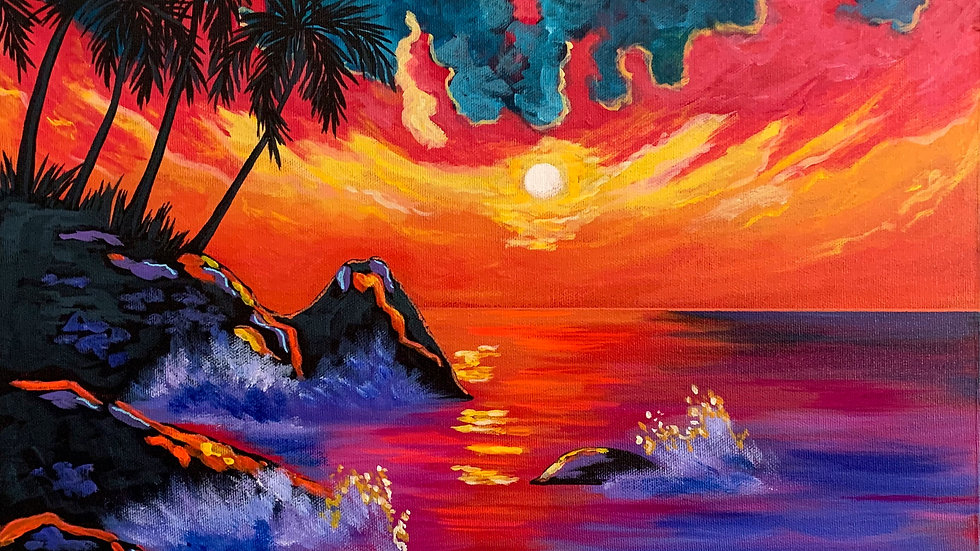 Acrylic Painting - View from Fantasy Island