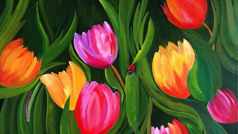 Acrylic Painting - Tulips
