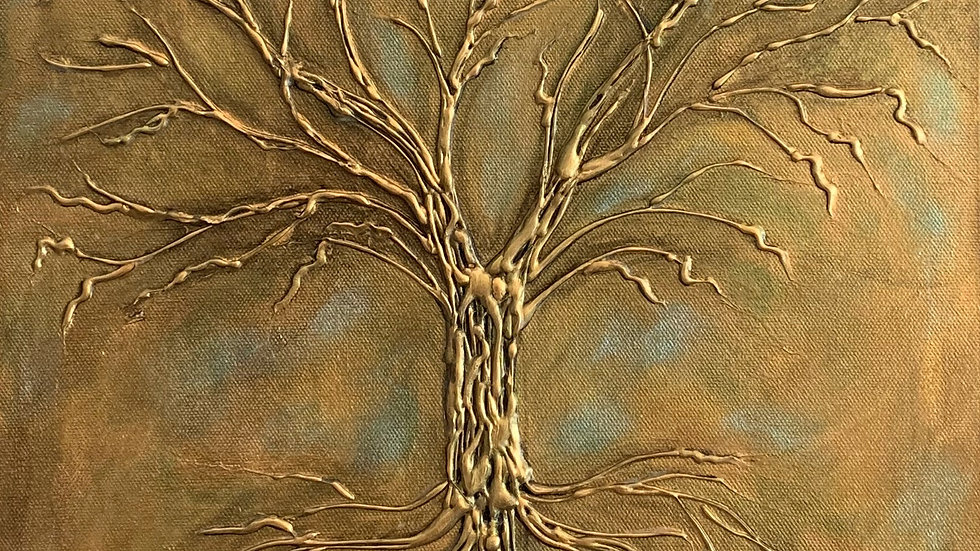 Acrylic Painting - Tree of Life (Gold)