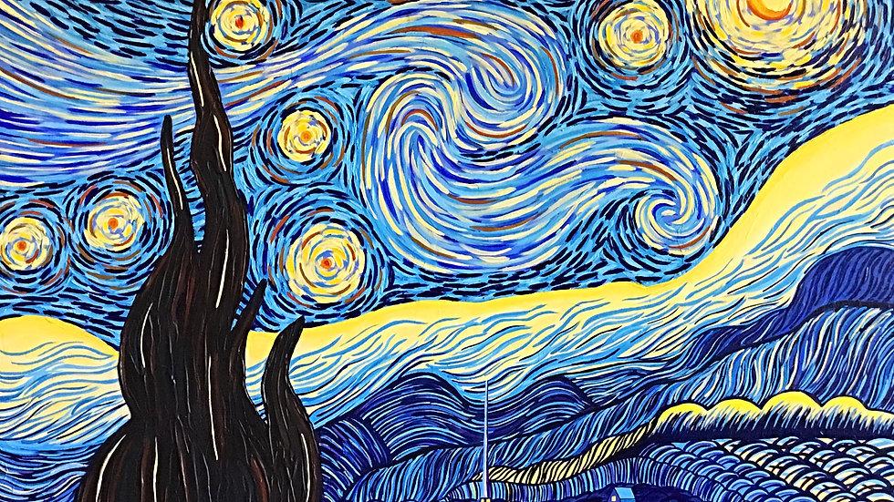 Acrylic Painting - Starry Night