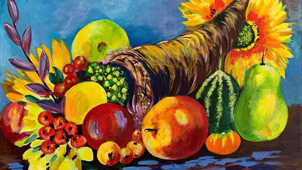 Acrylic Painting - Cornucopia