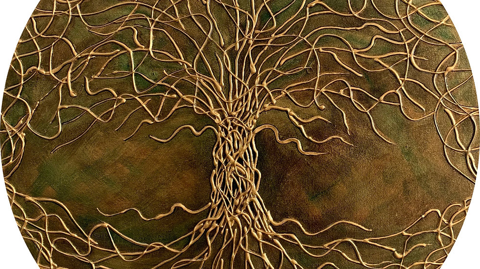 Acrylic Painting - Celtic Tree of Life