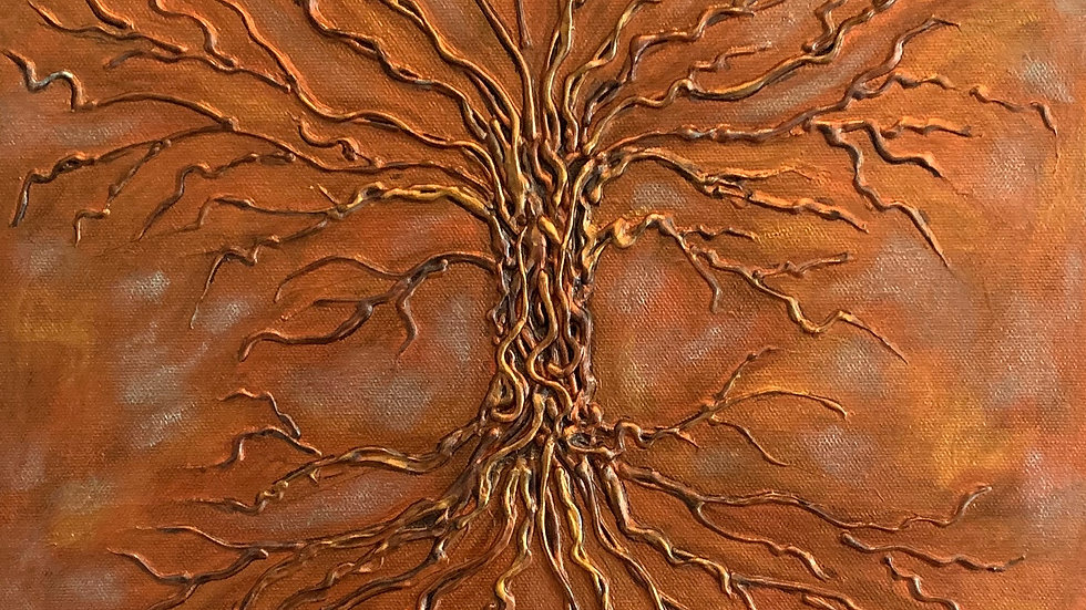Acrylic Painting - Tree of Life (Copper)