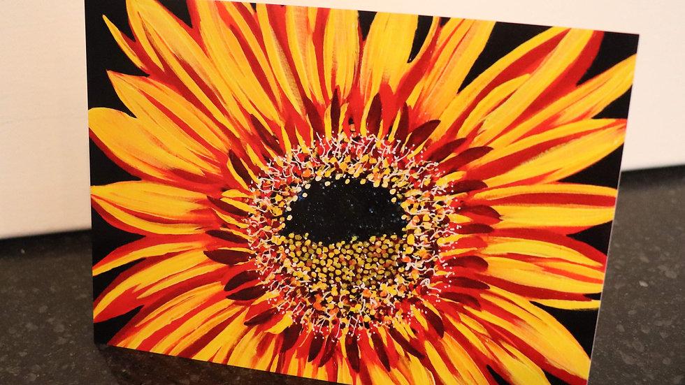 Blank Card - Print of Joker Sunflower