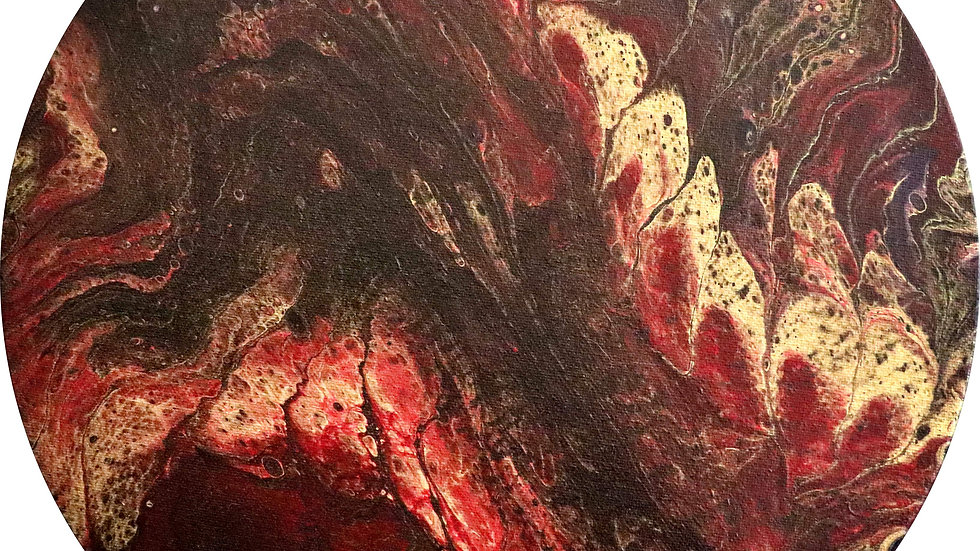Acrylic Painting - Red and Gold