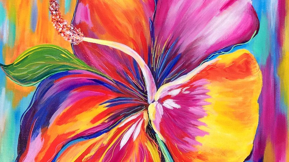 Acrylic Painting - Hibiscus