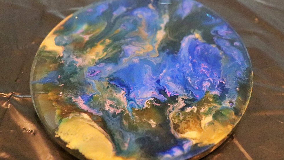 Resin Coaster with Alcohol Ink 5