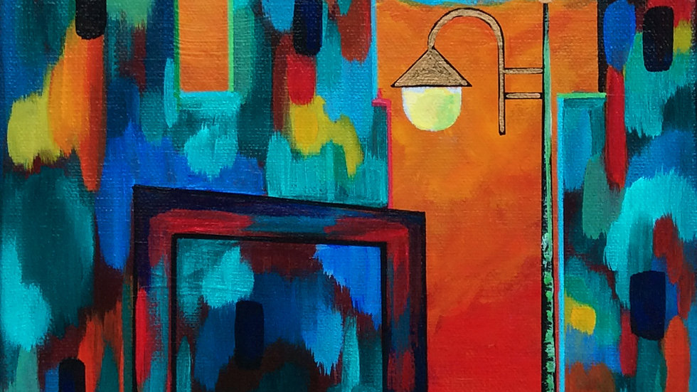 Acrylic Painting - Love Lane