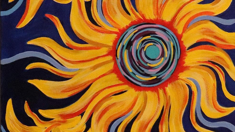 Acrylic Painting - Sublime Sunflowers
