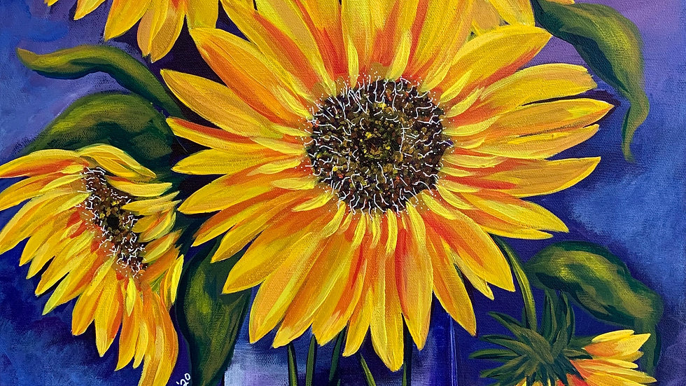Acrylic Painting - Bouquet of Sunshine