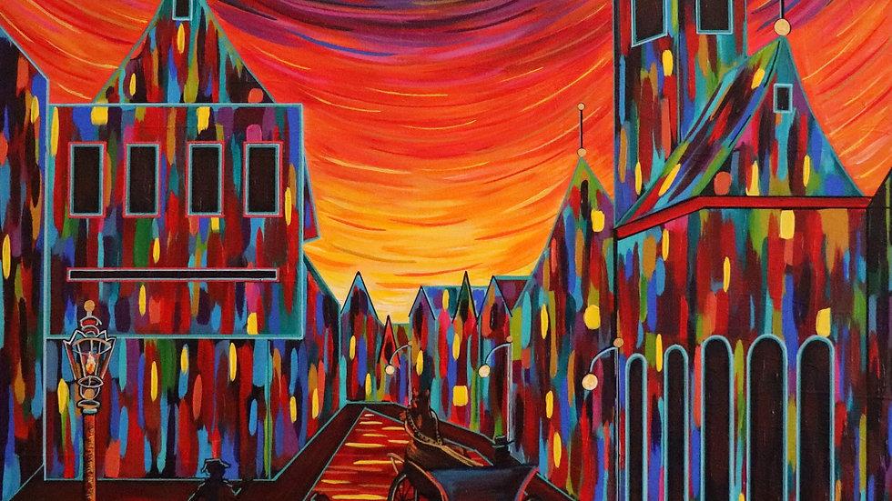 Acrylic Painting - Rendezvous or Luminous Lane