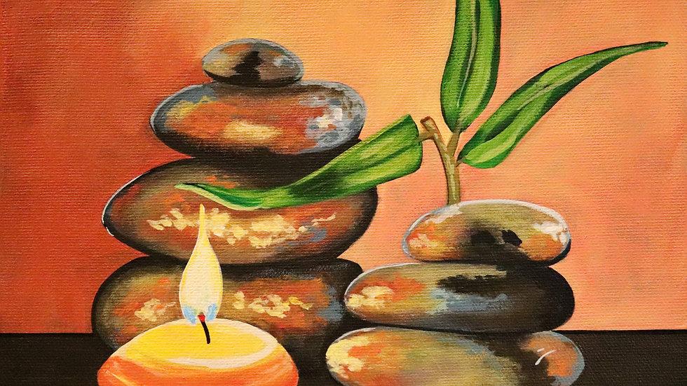 Acrylic Painting - Zen Stones