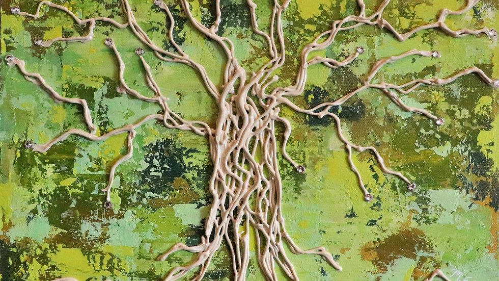 Acrylic Painting - Wilderness