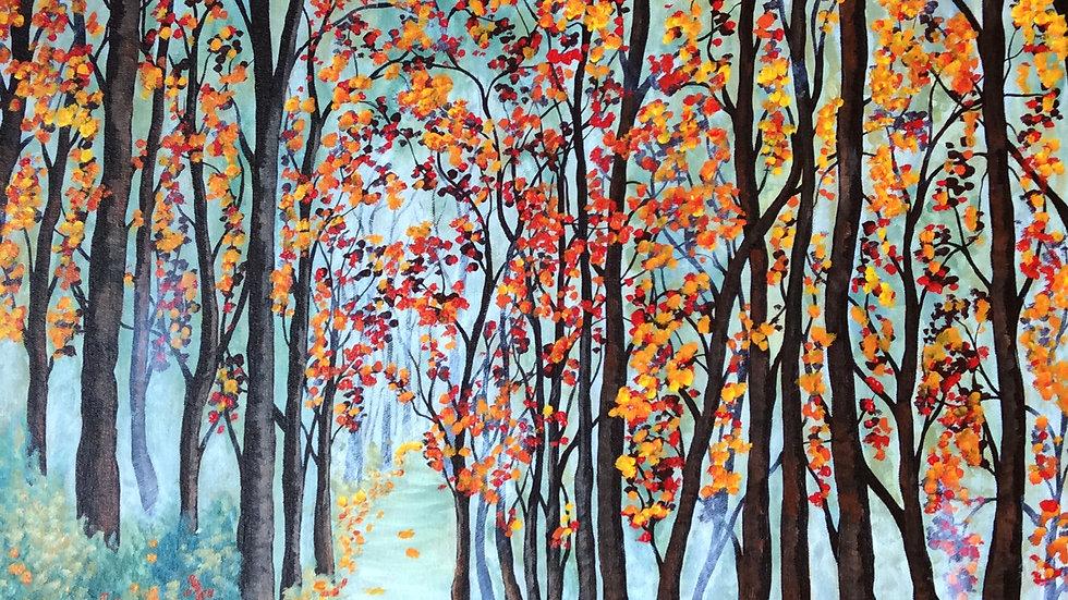 Acrylic Painting - Echo of Autumn Past