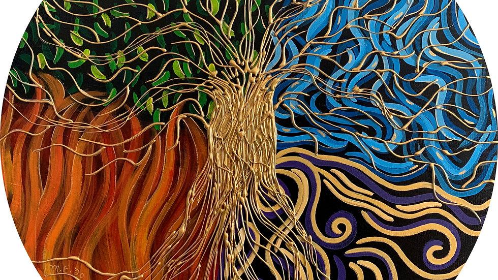 Acrylic Painting - Tree of Life (Elemental)