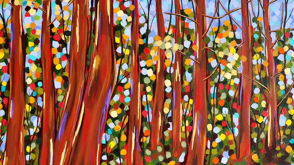 Acrylic Painting - Woodland Retreat