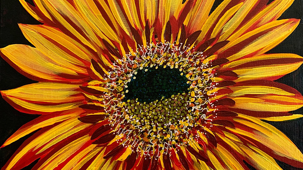 Acrylic Painting - Small Joker Sunflower